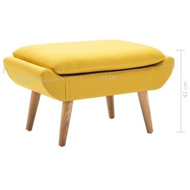 vidaXL Fotelj s stolčkom za noge z oblogo iz blaga rumene barve[15/15]