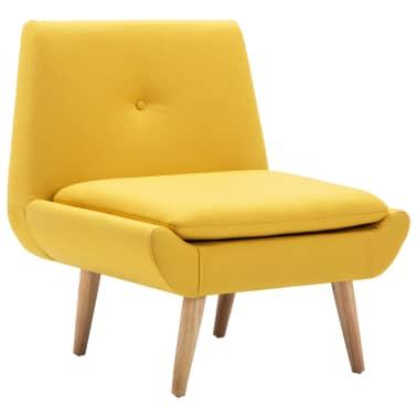 vidaXL Fotelj s stolčkom za noge z oblogo iz blaga rumene barve[4/15]