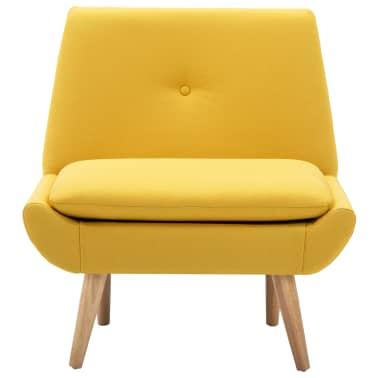 vidaXL Fotelj s stolčkom za noge z oblogo iz blaga rumene barve[5/15]