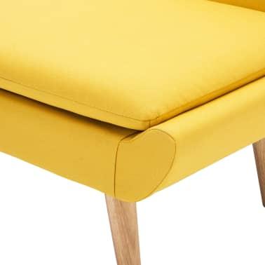 vidaXL Fotelj s stolčkom za noge z oblogo iz blaga rumene barve[8/15]