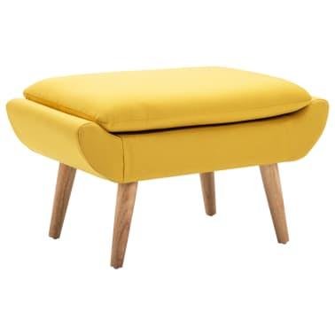 vidaXL Fotelj s stolčkom za noge z oblogo iz blaga rumene barve[9/15]