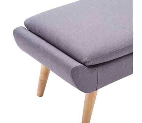 vidaXL Slipper-Stuhl mit Fußhocker Stoffbezug Grau[12/15]