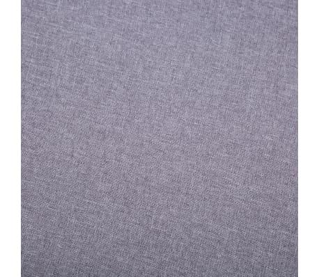 vidaXL Slipper-Stuhl mit Fußhocker Stoffbezug Grau[13/15]