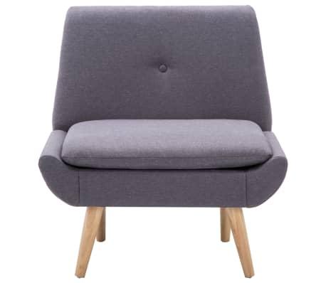 vidaXL Slipper-Stuhl mit Fußhocker Stoffbezug Grau[5/15]