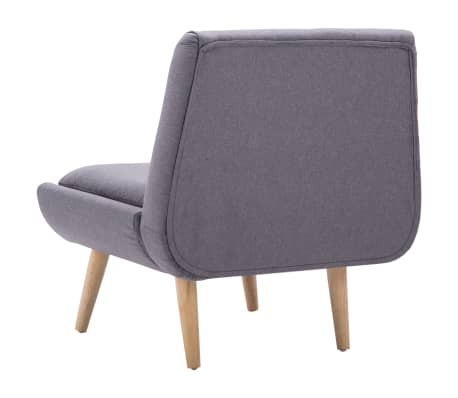 vidaXL Slipper-Stuhl mit Fußhocker Stoffbezug Grau[8/15]
