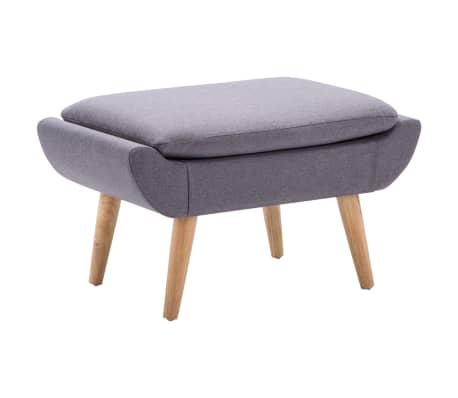 vidaXL Slipper-Stuhl mit Fußhocker Stoffbezug Grau[9/15]