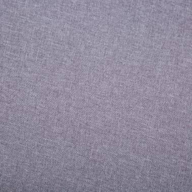 vidaXL Slipper-Stuhl mit Fußhocker Stoffbezug Grau[3/15]