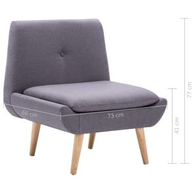 vidaXL Slipper-Stuhl mit Fußhocker Stoffbezug Grau[14/15]