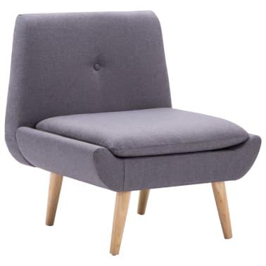 vidaXL Slipper-Stuhl mit Fußhocker Stoffbezug Grau[4/15]