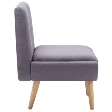 vidaXL Slipper-Stuhl mit Fußhocker Stoffbezug Grau[6/15]