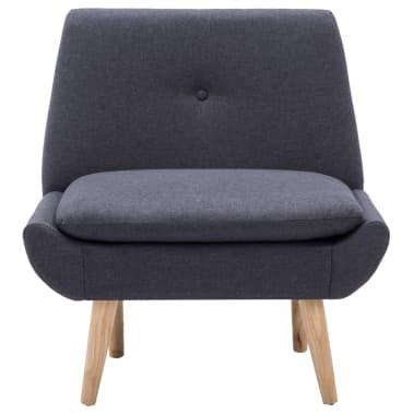 vidaXL Fauteuil 73x66x77 cm stoffen bekleding donkergrijs[3/8]