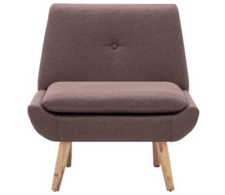 vidaXL Fauteuil 73x66x77 cm stoffen bekleding bruin[3/8]