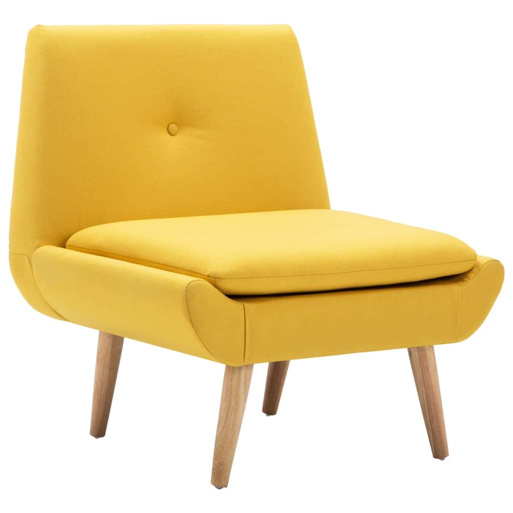 Afbeelding van vidaXL Fauteuil 73x66x77 cm stoffen bekleding geel