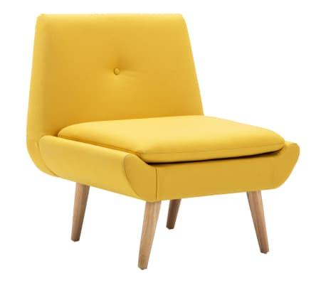 vidaXL Křeslo žluté textil