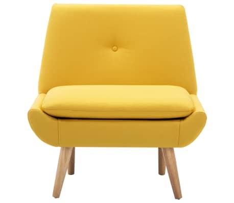 vidaXL Fotelis, audinio apmušalas, 73x66x77cm, geltonas[3/8]