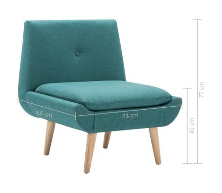 vidaXL Fåtölj tyg 73x66x77 cm grön[8/8]