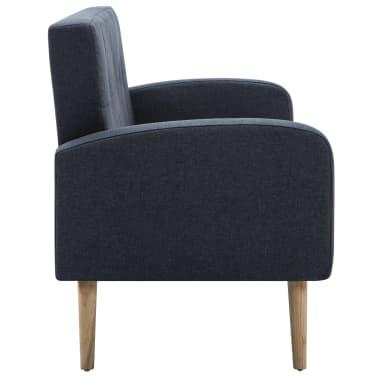 vidaXL Trivietė sofa, audinys, tamsiai pilka[4/8]