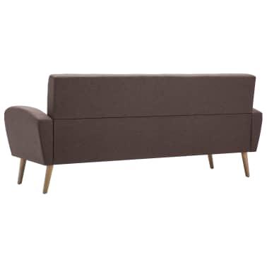 vidaXL 3-Sitzer-Sofa Stoff Braun[5/8]