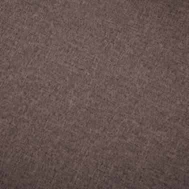 vidaXL 3-Sitzer-Sofa Stoff Braun[7/8]