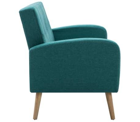 vidaXL Trivietė sofa, audinys, žalia[4/8]
