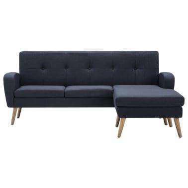 vidaXL Pohovka v tvare L, látkové čalúnenie, 186x136x79 cm tmavosivá[3/11]