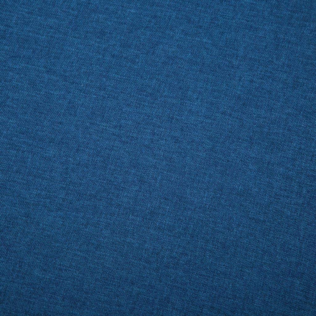 vidaXL Bank L-vormig 186x136x79 cm stof blauw