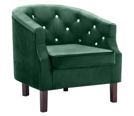 avec de en Velours Vert vidaXL Fauteuil Fauteuil SaloneBay Revêtement Chaise 8k0OXnPw