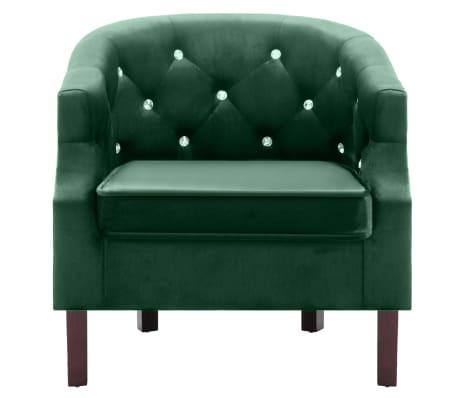 vidaXL lænestol fløjl grøn[2/7]