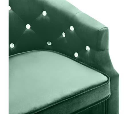 vidaXL lænestol fløjl grøn[5/7]