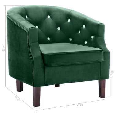 vidaXL lænestol fløjl grøn[7/7]