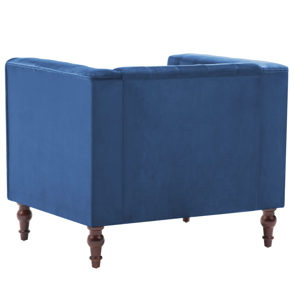 vidaXL Fauteuil fluweel blauw