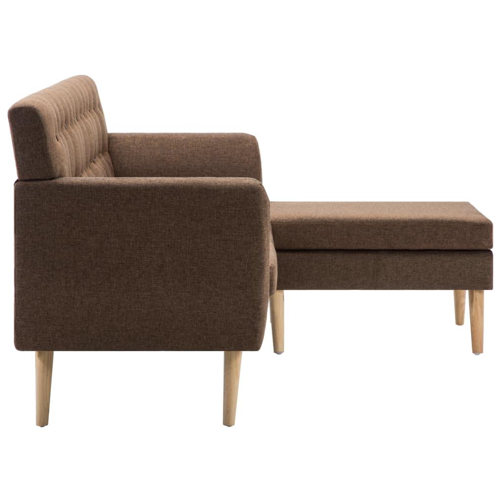 vidaXL Sofá en forma de L tapizado de tela marrón 171,5x138x81,5 cm[4/10]