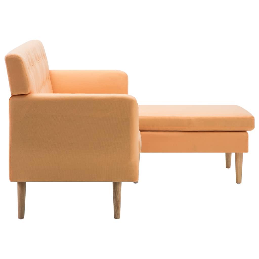 vidaXL Sofá en forma de L tapizado de tela naranja 171,5x138x81,5 cm[4/10]