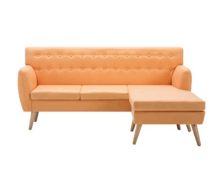 vidaXL L-formos sofa, aud. apmušal., 171,5x138x81,5cm, oranžinė[3/10]