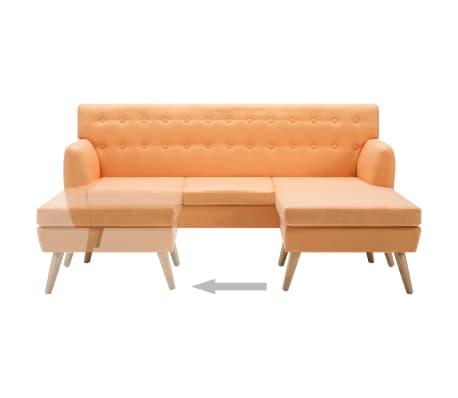 vidaXL L-formos sofa, aud. apmušal., 171,5x138x81,5cm, oranžinė[6/10]