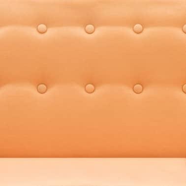 vidaXL L-formos sofa, aud. apmušal., 171,5x138x81,5cm, oranžinė[8/10]
