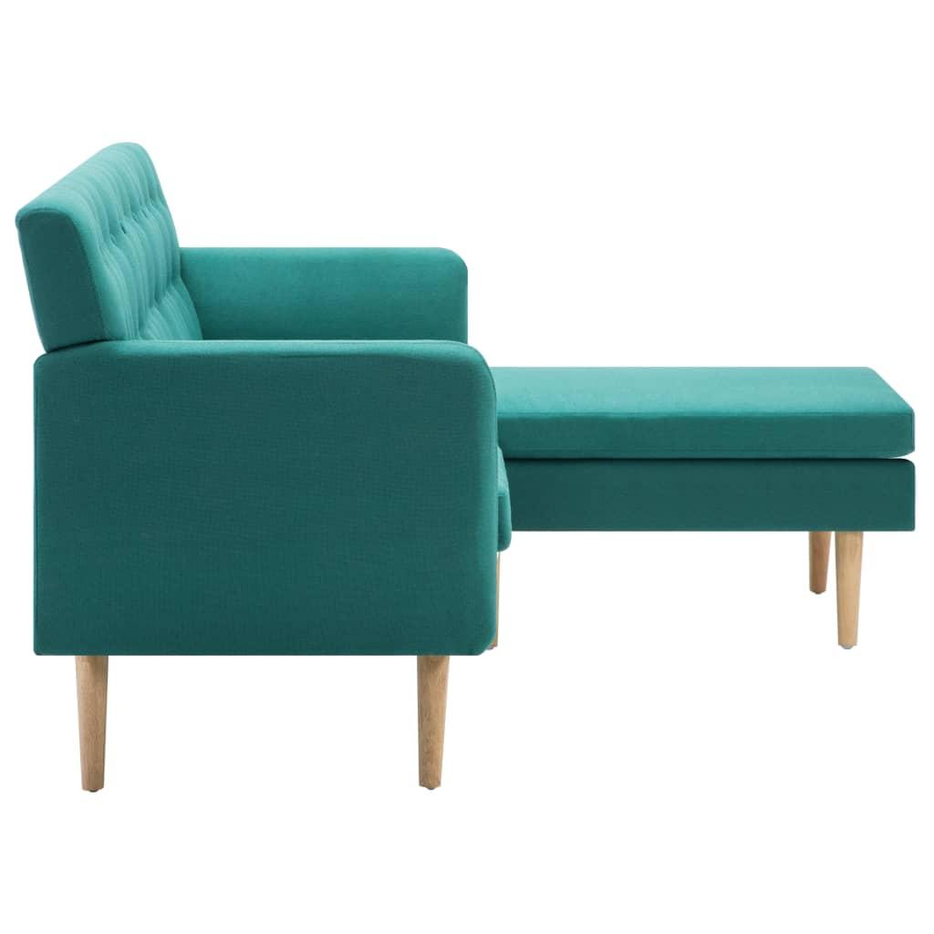 vidaXL Sofá en forma de L tapizado de tela verde 171,5x138x81,5 cm[4/10]
