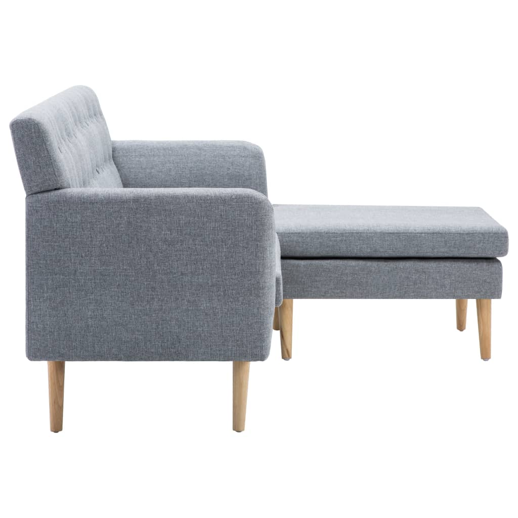 vidaXL Sofá forma de L tapizado de tela gris claro 171,5x138x81,5 cm[4/10]