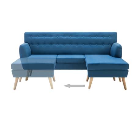 vidaXL Rohová sedačka textilní čalounění 171,5 x 138 x 81,5 cm modrá[6/10]
