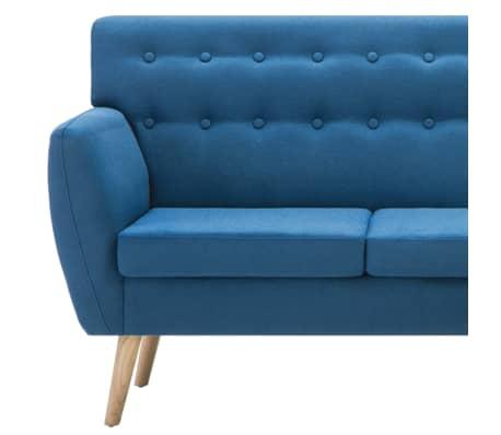 vidaXL Rohová sedačka textilní čalounění 171,5 x 138 x 81,5 cm modrá[7/10]
