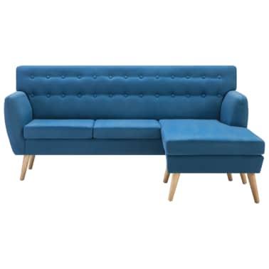 vidaXL Rohová sedačka textilní čalounění 171,5 x 138 x 81,5 cm modrá[3/10]