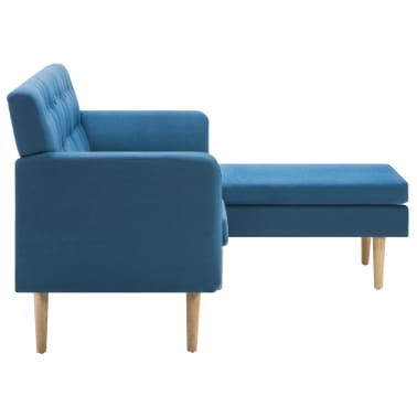 vidaXL Rohová sedačka textilní čalounění 171,5 x 138 x 81,5 cm modrá[4/10]