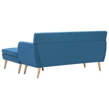 vidaXL Rohová sedačka textilní čalounění 171,5 x 138 x 81,5 cm modrá[5/10]