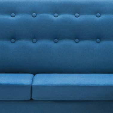 vidaXL Rohová sedačka textilní čalounění 171,5 x 138 x 81,5 cm modrá[8/10]