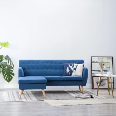 vidaXL Rohová sedačka textilní čalounění 171,5 x 138 x 81,5 cm modrá[1/10]