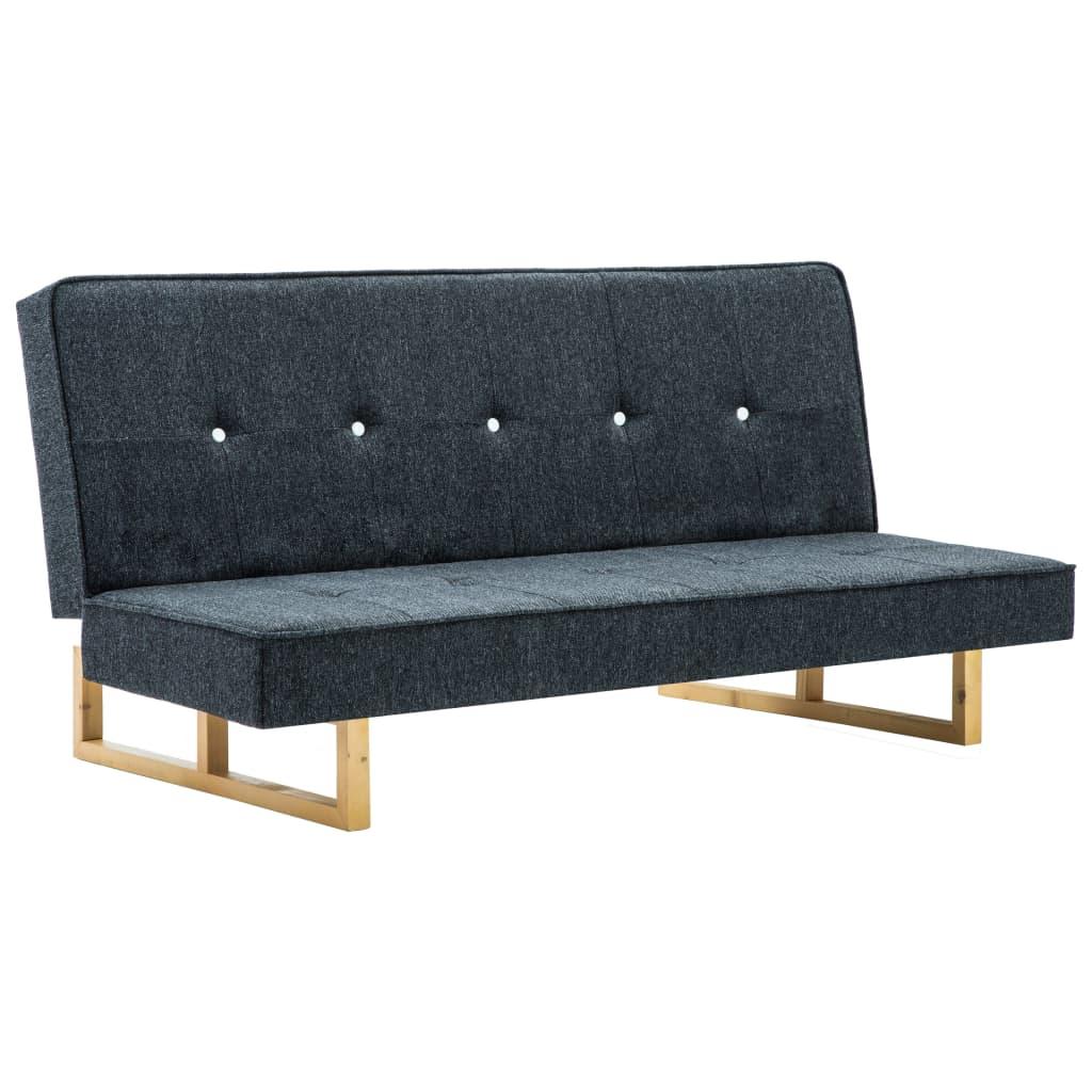 vidaXL Sofa rozkładana, tapicerowana materiałem, ciemnoszara
