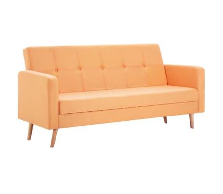 vidaXL Pohovka s textilním čalouněním oranžová[2/10]