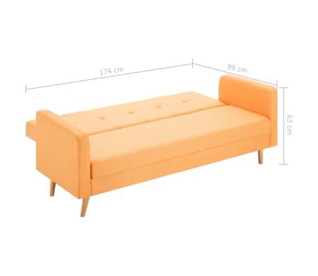 vidaXL Pohovka s textilním čalouněním oranžová[10/10]