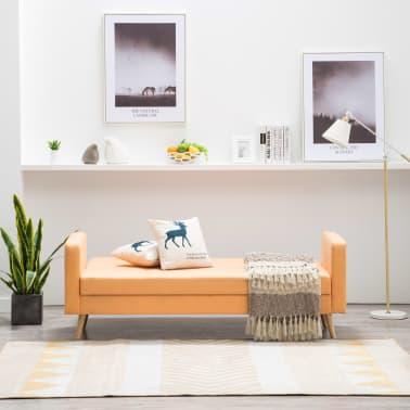 vidaXL Pohovka s textilním čalouněním oranžová[5/10]