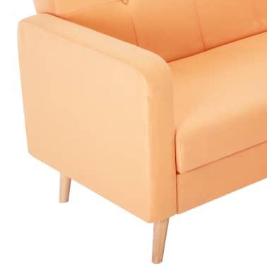 vidaXL Pohovka s textilním čalouněním oranžová[7/10]